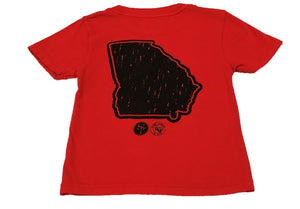 Short-Sleeve Red/Black State of Georgia T-Shirt