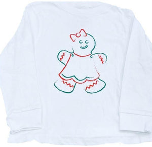 Long-Sleeve White Gingerbread Girl T-Shirt