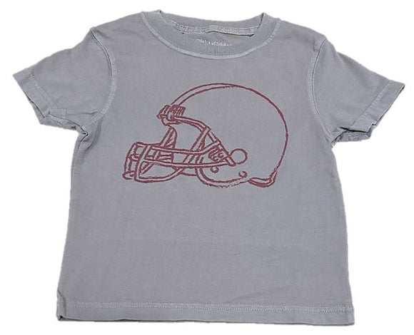 Short-Sleeve Gray/Maroon Helmet T-Shirt