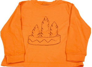 Long-Sleeve Orange/Brown Headband T-Shirt