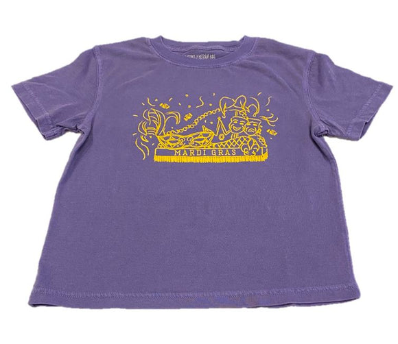 Short-Sleeve Purple Mardi Gras Float T-Shirt