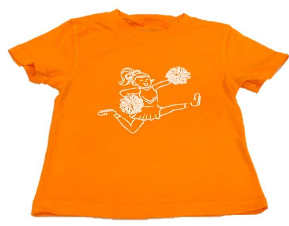 Short-Sleeve Orange/White Cheer T-Shirt