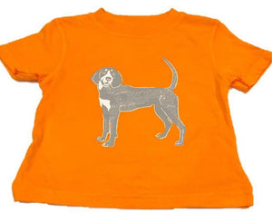 Short-Sleeve Orange Bluetick T-Shirt