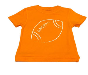 Short-Sleeve Bright Orange/White Football T-Shirt