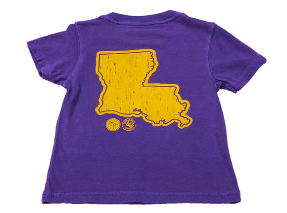Short-Sleeve Purple/Gold State of Louisiana T-Shirt