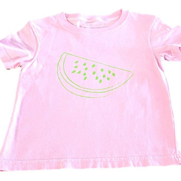 Short-Sleeve Light Pink/Lime Watermelon T-Shirt
