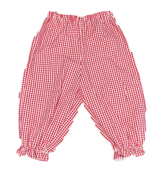 Red/White Gingham Ruffle Bubble Pants