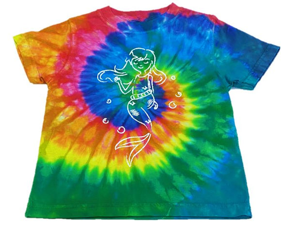Short-Sleeve Tie Dyed MERMAID T-Shirt