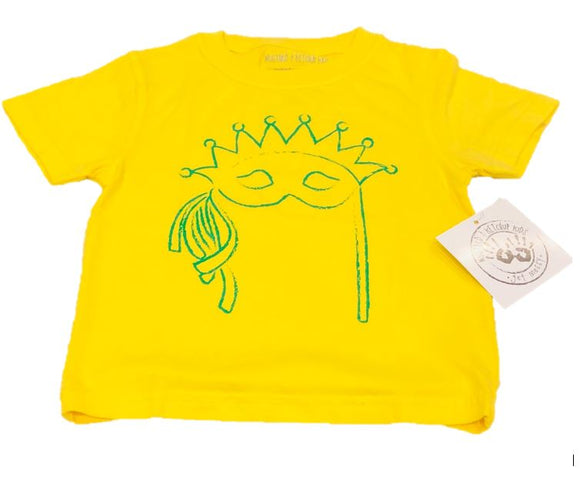 LONG-SLEEVE Yellow Mask T-Shirt