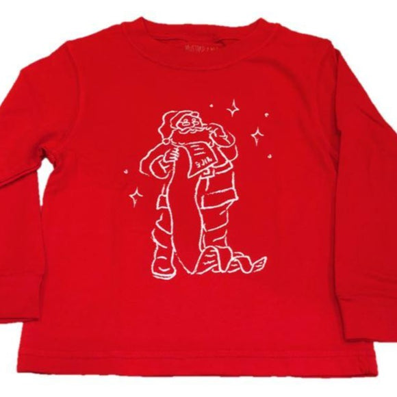 Long-Sleeve Red Santa T-Shirt