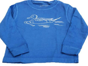 Long-Sleeve Blue Pintail Duck T-Shirt