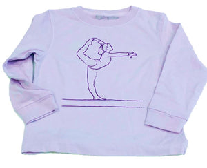 Long-Sleeve Purple Gymnast T-Shirt