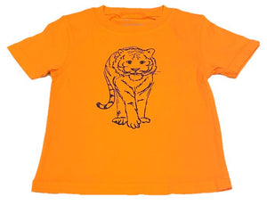 Short-Sleeve Orange/Navy Tiger T-Shirt