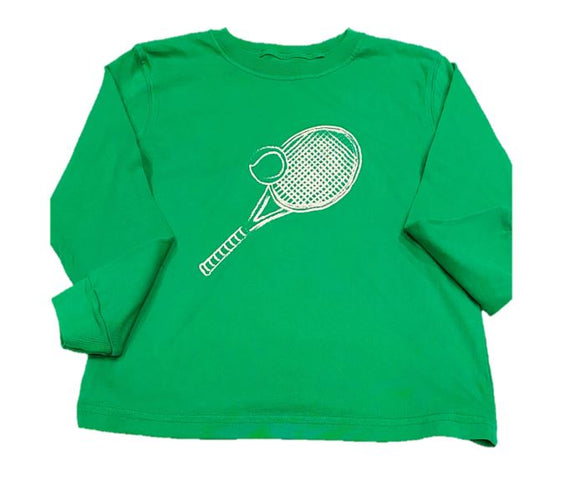 Long-Sleeve Green Tennis Racket T-Shirt