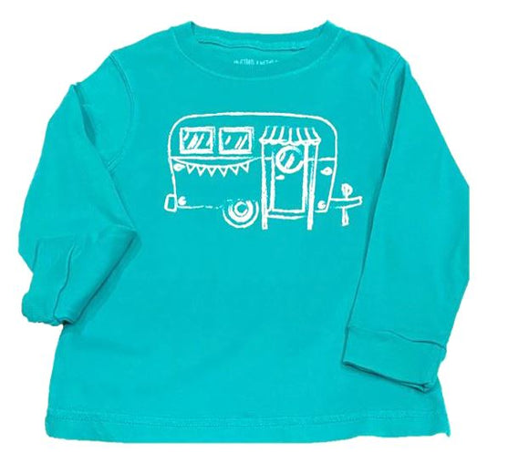 Long-Sleeve Island Green Camper T-Shirt