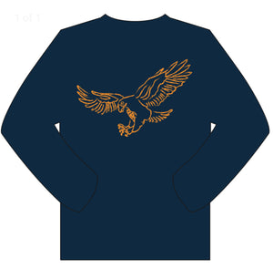 Long-Sleeve Navy/Orange Eagle T-Shirt