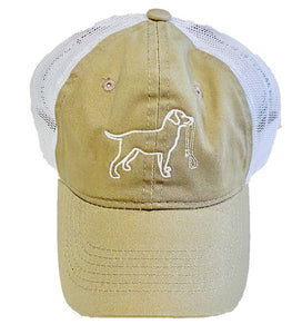 Khaki Lab Dog Trucker Hat