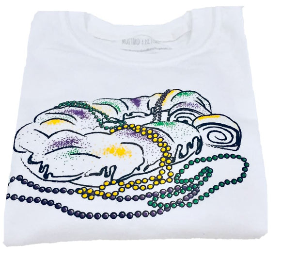 Short-Sleeve White King Cake T-Shirt