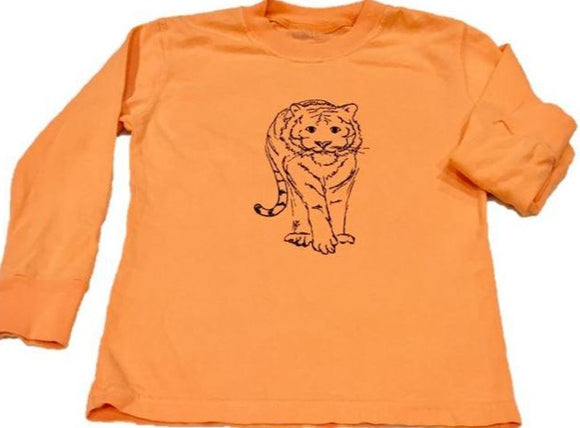 Long-Sleeve Orange/Navy Tiger T-Shirt