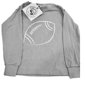 Long-Sleeve Gray Football T-Shirt
