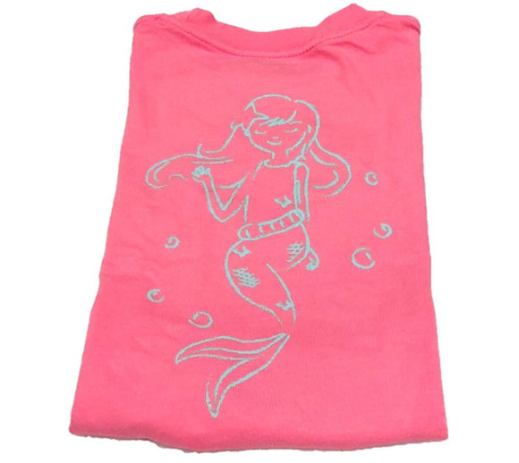 Short-Sleeve Peony Pink Mermaid T-Shirt