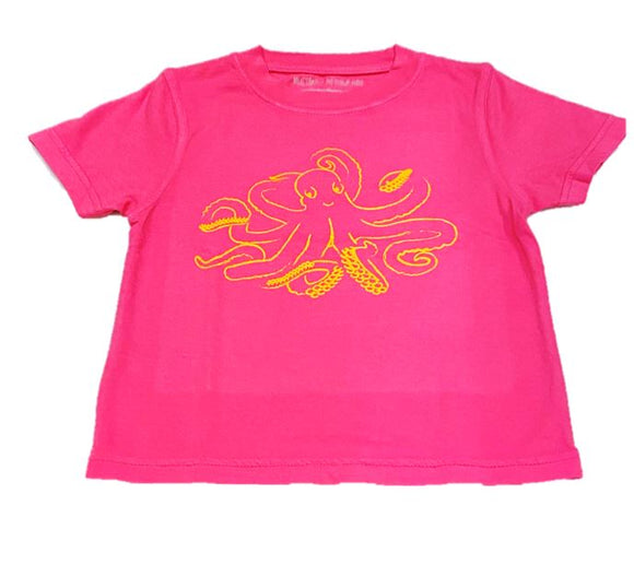 Short-Sleeve Pink Octopus T-Shirt