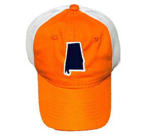 Orange/Navy State of Alabama Trucker Hat