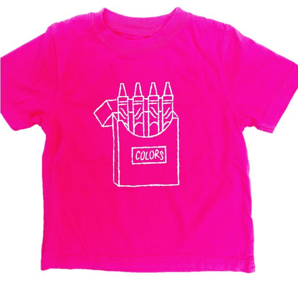 Short-Sleeve Pink Crayons T-Shirt