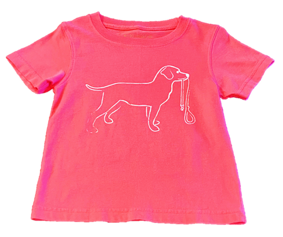 Short-Sleeve Pink Dixie Dog T-Shirt