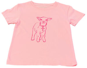 Short-Sleeve Light Pink Lamb T-Shirt