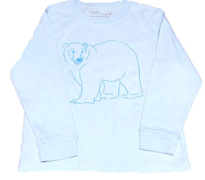 Long-Sleeve Light Blue Polar Bear T-Shirt