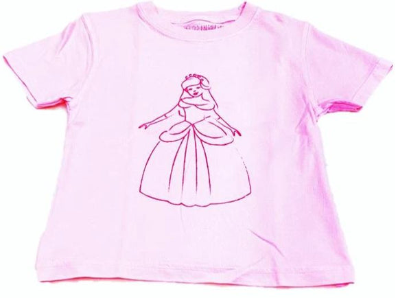 Short-Sleeve Light Pink Princess T-Shirt