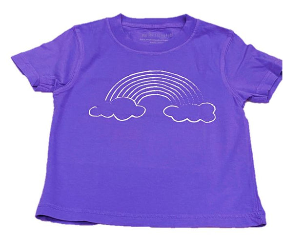 Short-Sleeve Purple Rainbow T-Shirt