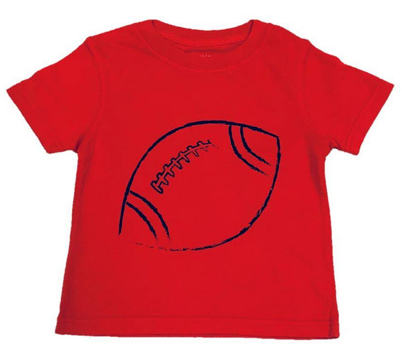 Short-Sleeve Red/Navy Football T-Shirt