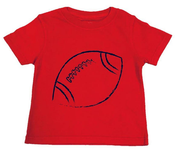 Short Sleeve Red/Black Football T-shirt