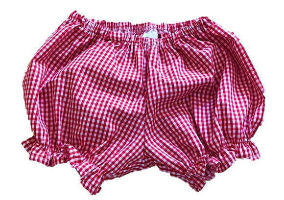 Red Gingham Ruffled Bloomers