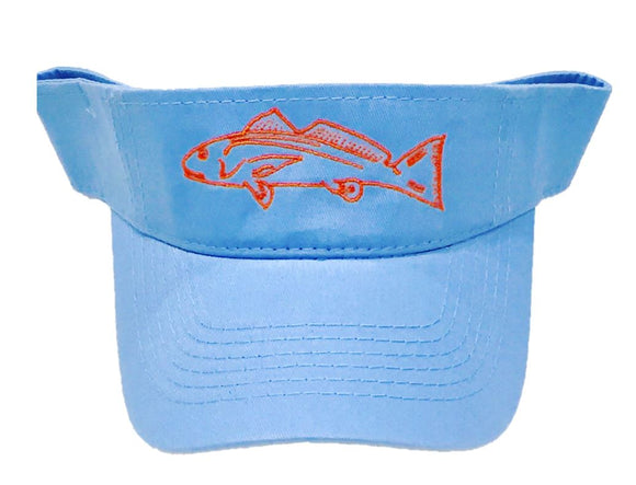 Light Blue Redfish Visor