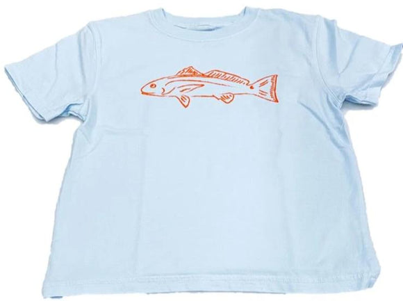 Short-Sleeve Light Blue Redfish T-Shirt