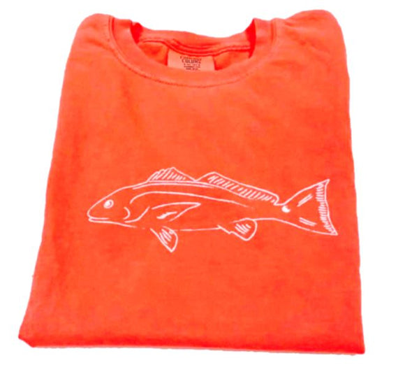 Short-Sleeve Neon Orange Redfish T-Shirt
