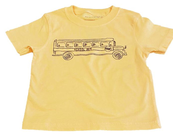 Short-Sleeve Yellow School Bus T-Shirt