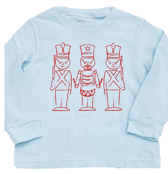 Long-Sleeve Light Blue Toy Soldiers T-Shirt