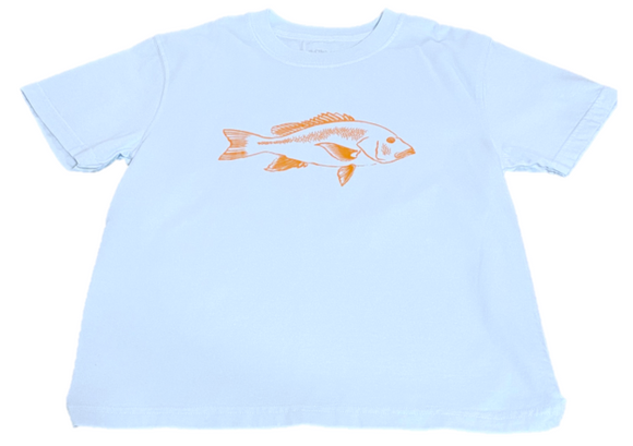 Short-Sleeve Light Blue Snapper T-Shirt