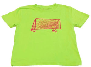 Short-Sleeve Lime/Pink Soccer Tee