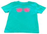 Short-Sleeve Chalky Mint/Pink Sunglasses T-Shirt