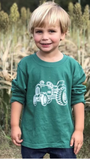 Short-Sleeve Green Tractor T-Shirt