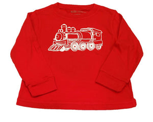 Long-Sleeve Red Train T-Shirt