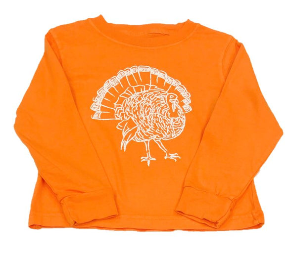 Long-Sleeve Orange Turkey T-Shirt