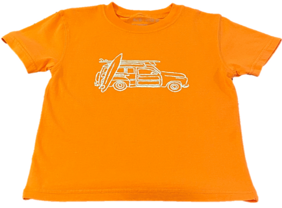Short-Sleeve Orange Woody Wagon T-Shirt