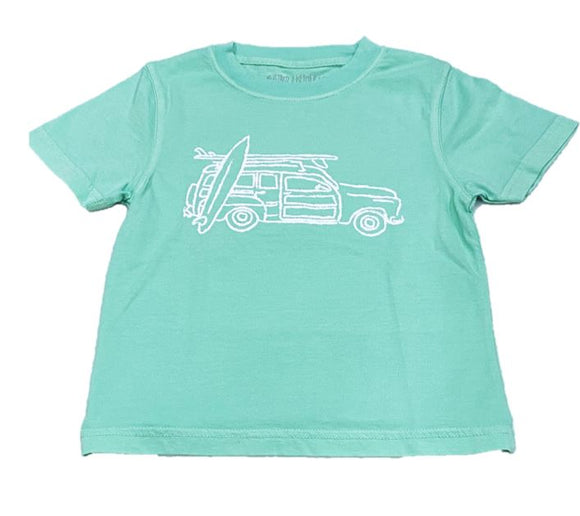 Short-Sleeve Island Green Woody Wagon T-Shirt