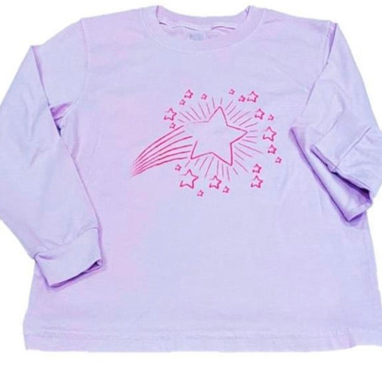Long-Sleeve Periwinkle Shooting Star T-Shirt